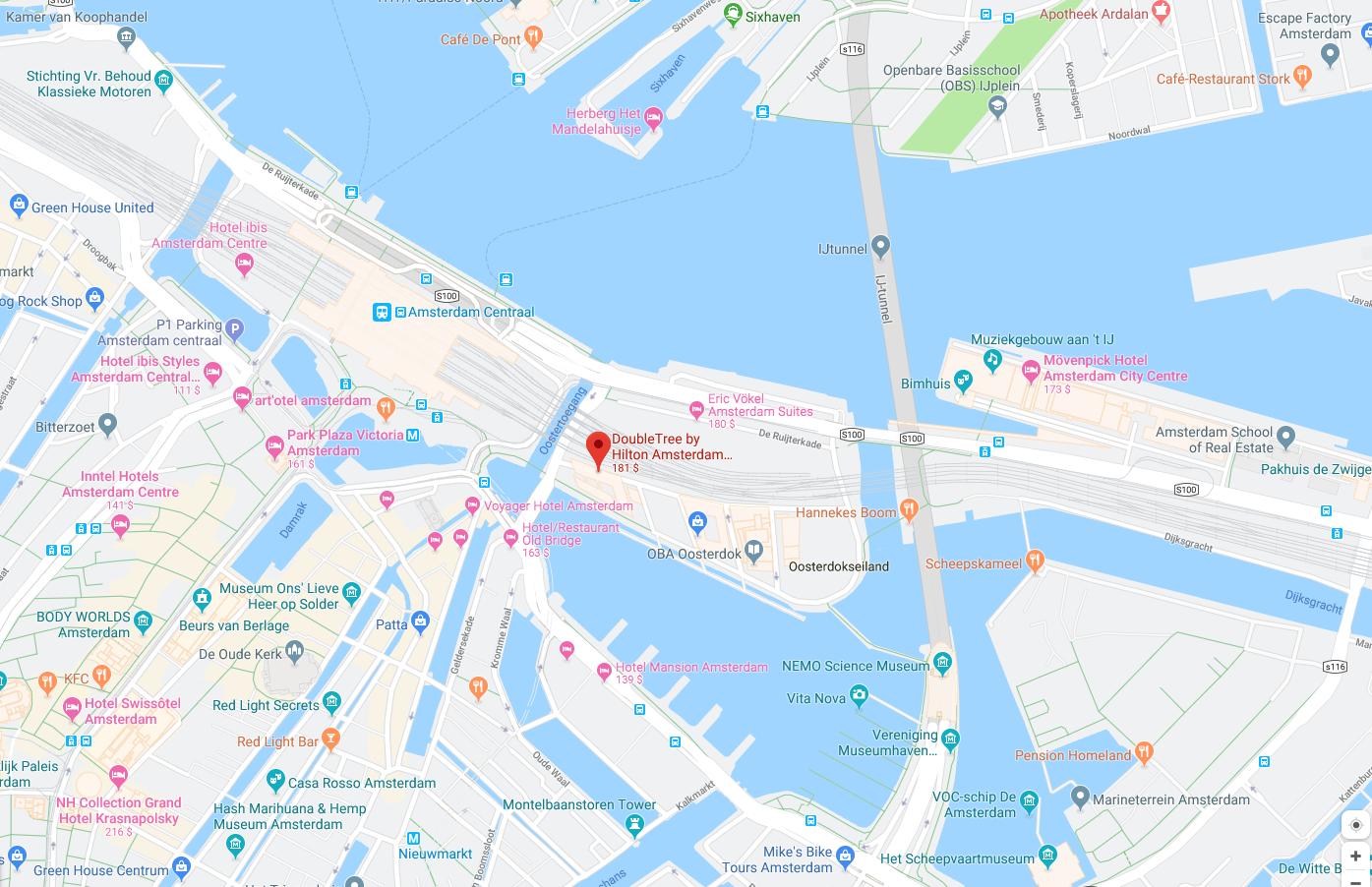 Karte-Doubletree_Hilton